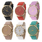 Luxury Wrist Watches Geneva Faux Leather Analog Quartz Jewelry Women Wristwatch
