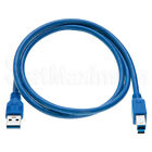USB 3.0 Cable A Male to B Male Type High Quality Super Speed Cord - 3ft 6ft 10ft