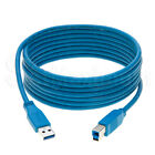 USB 3.0 Cable A Male to B Male High Quality A to B Fast Speed Wire 3ft 6ft 10ft