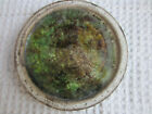 """VTG McCarty McCarty's Ms pottery green brown water finish 5.75"""" saucer"""