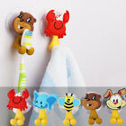 Cute Animal Toothbrush Holder Wall Mount Sucker Bathroom Suction Cup Hang Stand