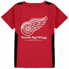 Fanatics Branded Detroit Red Wings Youth Red Lockup Poly Colorblock T-Shirt