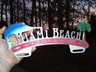 Vintage 50s nos MIAMI Beach Florida vacation promo License plate topper auto gm $149.99 USD