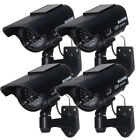 Solar Powered Fake Dummy LED Blinking Illuminating Home Security Camera CCTV