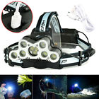 Sporting Goods - 120000LM 9xT6 LED Headlamp USB Rechargeable 18650 Headlight Torch Lamp + Battery