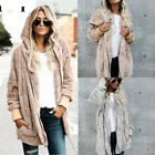 Womens Faux Fur Winter Warm Coat Trench Coat Jacket Mid Length Parkas Overcoats