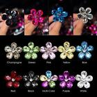 4 cm/1.57 inch Crystal Diamond Flower Car Air Conditioning Vent Perfume Auto SY