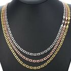 Hammered Curb Cuban Link 5mm Womens Mens Necklace Chain Yellow Gold Filled GF