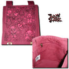 Teddy Scares Edwin Morose Heart Ripped Out Burgandy Satchel - Applehead Factory