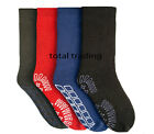 Mens Slipper Socks gripper thermal  lounge cosy  pack or 4 pack size 6-11