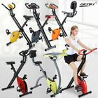 Folding Magnetic Upright Bicycle Training Fitness Gym Stationary Flywheel X-Bike