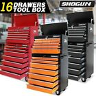 Shogun 16 Drawers Mechanic Tool Box Cabinet Toolbox Trolley Roller