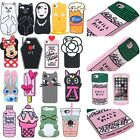 Shockproof Lovely cartoon silicone rubber Case Cover Skin for iPhone 7 / 7 plus