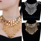 Fashion Jewelry Gold Chain Strand Tassel Statement Chunky Bib Necklace Pendants