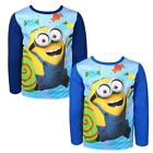 Boys Official Despicable Me Minions Candy Long Sleeve T-Shirt Top 4 to 10 Years