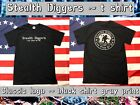 Stealth diggers black & gray classic logo Shirt Metal Detecting patriots LFOD