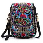 Latest Lady Cell Phone Bag Vintage Embroider Purse Wallet Messenger Bag Colorful