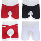 Men's Open Crotchless Lingerie Underwear Panties Boxer Trunks Briefs Underpants