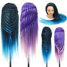 26'' Colorful Hair Hairdressing Practice Training Head Mannequin Salon + Clamp