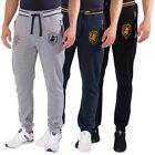 Mens Cuffed Joggers Tracksuit Bottoms Sweatpants By Santa Monica Polo Club S-XL