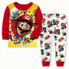 2PCS Cute Super Mario Kids Baby Boys Nightwer Sleepwear Outfits Pyjamas set