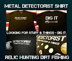 Stealth Diggers Metal detecting detectorist T shirt relic hunting dirt fishing