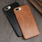 True Cowhide Leather PC Armor Case Back Cover For Apple iPhone 6s 7 Plus 4.7 5.5