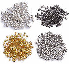 500/1000x Metal Crimps Stopper Beads - Silver / Gold / Bronze / Black Plated