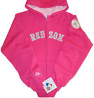Boston Red Sox Majestic MLB Lead Off Full Zip Hoodie Pink Youth Girls Sizes NWT on Ebay