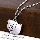 1PC Cute Retro Necklace Lazy Pig Apple Pendants Mills Necklace Sweater Necklace