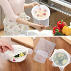 4Pcs Food Fresh Keeping Silicone Saran Home Wrap Reusable Food Wrap Seal Cover