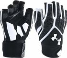 Under Armour Adult Men's Combat V Padded Half Finger Linemen Football Gloves