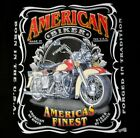 Back Print American Finest Motorcycle T-Shirt Mens Womens Born in the USA
