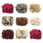 Women Lady Hair Messy Curly Clip in Hair Hairpiece Synthetic Chignon Extension