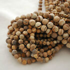Natural Picture Jasper Gemstone Frosted Matte Round Beads - 4mm 6mm 8mm 10mm