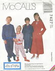 McCalls 7427 Girls Boys Childs Pajamas & Robe Sewing Pattern