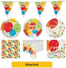 GLITZY GOLD  Party Range (Partyware & Decorations) (1C)