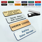 MAGNET Custom Engraved Name Badge Employee Social Key Worker Sales Advisor Tags