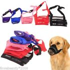 Adjustable Pet Dog Anti Bark Bite Mesh Mask Soft Mouth Muzzle Grooming Chew