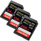 SanDisk Extreme Pro 256GB 128GB 64GB 32GB SD SDHC SDXC Card Lot Class10 170MB/s