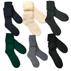New Scottish  WOOL Socks/Kilt Hose In Black, Grey, Green, Ecru Or Charcoal