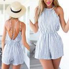 Women Party Clubwear Playsuit Bodycon Striped Jumpsuit Romper Trousers Pants USA