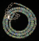"47CRT 2-5.5 MM17"" NATURAL ETHIOPIAN  WELO FIRE OPAL RONDELLE BEADS NACKLACE 9071"