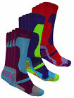Multi Pack Winter Soft Thermal Padded Long Ski Socks Hiking Walking Cycling New