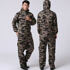 Men's Camo Work Loose Hooded Dungarees Overalls Jumpsuit Pants Rompers Trousers