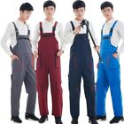 Mens Overalls Safety Work Suspender Workwear Decorators Pants Trousers Plus Size