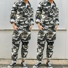 Men's Camo Boilersuit Overalls Workwear Pants Jumpsuits Romper Casual Trousers