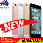 NEW Apple iPhone 6s in 16GB, 64GB, 128GB UNLOCKED WTY Gray Silver Gold Rose
