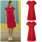WHITE STUFF BRODERIE ANGLAISE PARADISE TEA DRESS SHIFT TUNIC RED SUMMER 8 -10