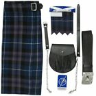 Tartanista Men's Plain Black 5 pc Kilt Kit - Kilt Sporran Pin Belt Flash 30-54